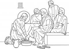 Jesus lava os pés aos discípulos 1