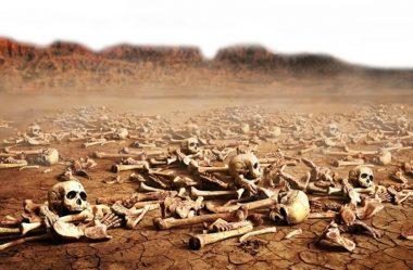 A visão de um vale de ossos secos