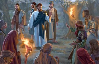 Os guardas mandados para prender Jesus