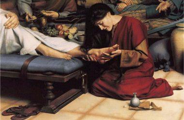 Jesus ungido por Maria em Betânia