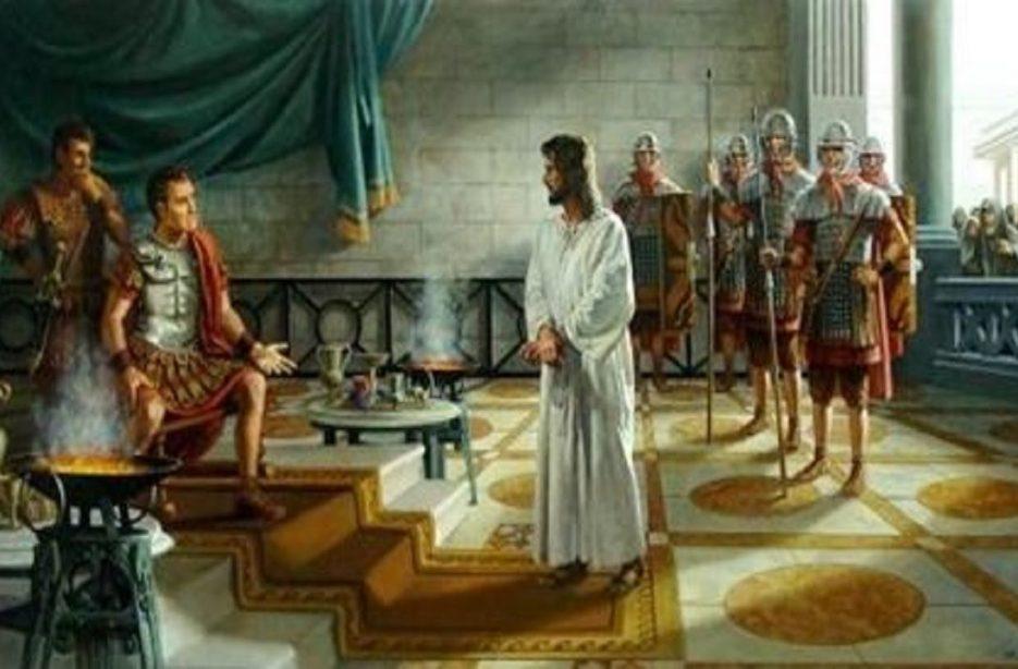 Pilatos interroga a Jesus – Toque Cristão