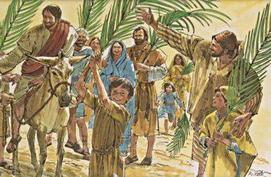 Jesus entrando triunfalmente em Jerusalém